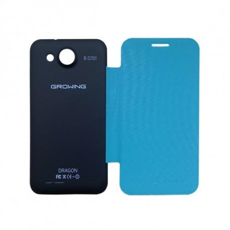 Capa File Cover + Pelicula de Proteção para Smartphone Dragon