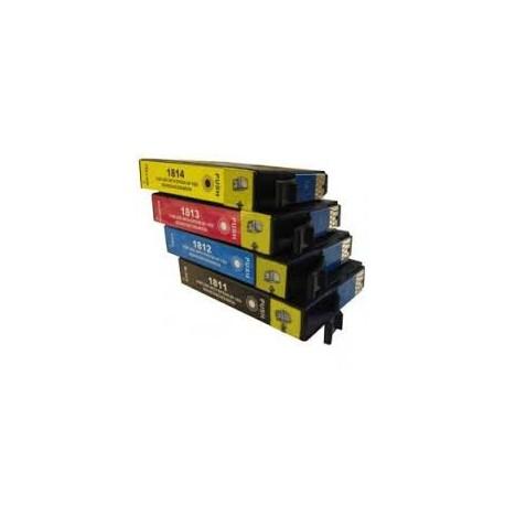 pack de 4 tinteiros compativeis para Epson, 18XL - 1811BK/1812C/1813M/1814Y