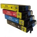 Pack 4 Tinteiros Compativeis Epson, 18XL - 1811BK/1812C/1813M/1814Y