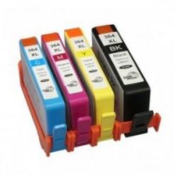 Pack 4 Tinteiros Compativeis HP 364 XL ( C/ Chip)