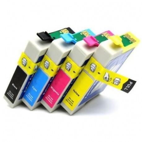 Conjunto 4 Tinteiros Epson E1291/2/3/4 Compativeis