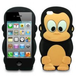 "Capa Silicone ""Macaco"" Iphone 4/4s"