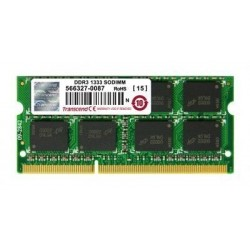 Dimm SO TRANSCEND 2GB DDR3 1333 Single Side - Retail