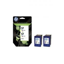 Pack 2 tinteiros Original HP 57 (tricolor)