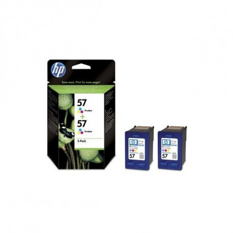 Pack 2 tinteiros HP 57 (tricolor)