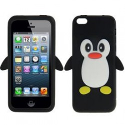 "Capa Silicone ""Pinguim"" Iphone 4"