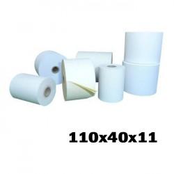 Pack 10 Rolos papel térmico 110x40x11