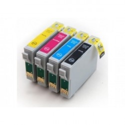 Pack 4 Tinteiros Compativeis Epson T0611/2/3/4