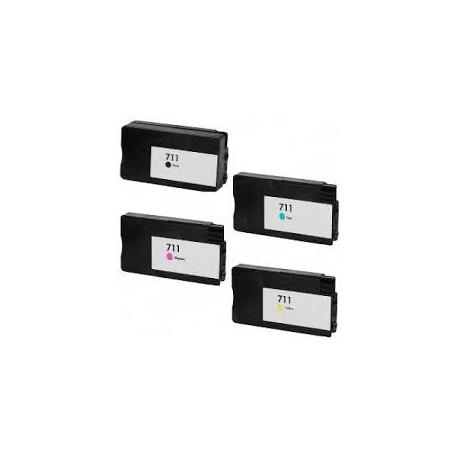 Pack 4 Tinteiros Compativeis HP Nº 711
