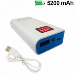 Bateria Externa Universal 5200mAh Display