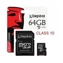 Kingston MicroSD 64GB Classe 10 UHS-1