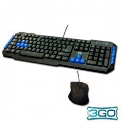 Teclado + Rato USB Kit 3GO COMBODRILE