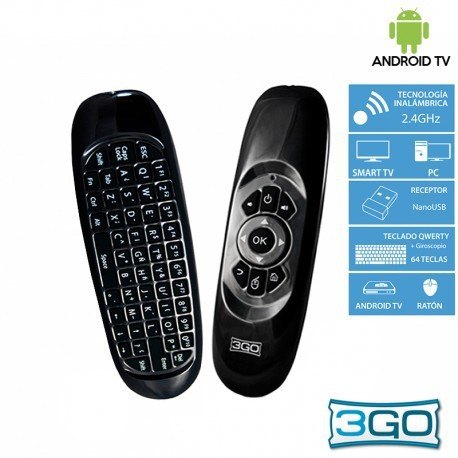 Air Mouse com Teclado 3GO