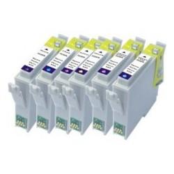 Pack 6 Tinteiros Compatíveis Epson T0331/2/3/4/5/6