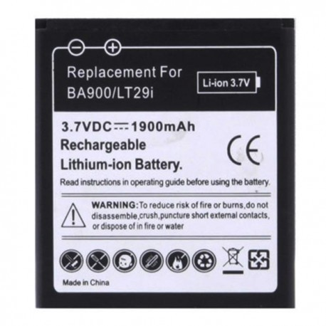 Bateria Compativél SONY BA900 Xperia J / L / M / E1