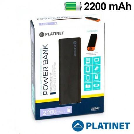 Bateria Externa Micro-usb Power Bank 2200 mAh Platinet Negro