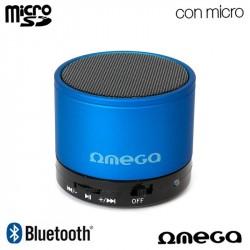 Coluna Música Bluetooth Cilindro Universal Omega