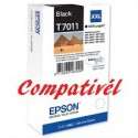 Tinteiro Compatível Epson T7011 - Preto