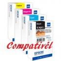 Conjunto 4 Tinteiros Compativeis Epson T7011/7012/7013/7014