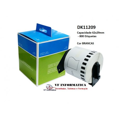 Etiquetas p/ Impressora Brother QL-500/550/560/570 62x29mm