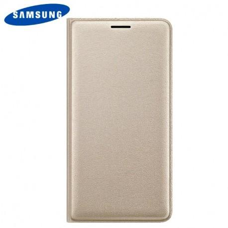 Capa Original Samsung J300 Galaxy J3 Flip Wallet Dourada