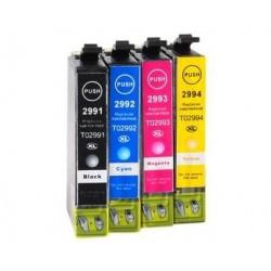 Pack 4 Tinteiros compatíveis Epson 29xl (CMYBK)