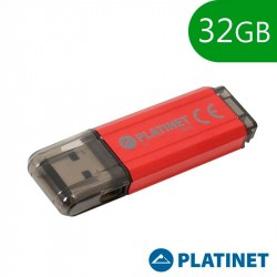 Pen Drive USB x32 GB 2.0 Platinet Basic Vermelha
