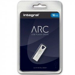 Pen Drive Integral USB x 16 GB Slim ARC Prata