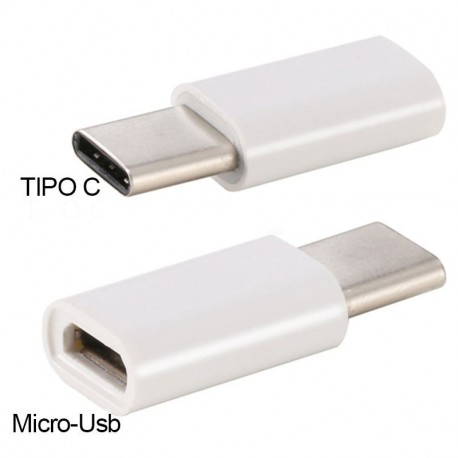 Adaptador Conector Micro-usb a Tipo C (Universal)