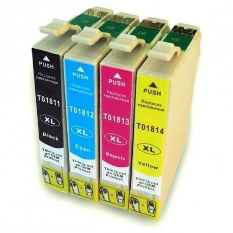Conjunto 4 Tinteiros Compatível Epson 18 XL