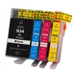 Pack 4 Tinteiros compatíveis Hp 934xl, HP935xl