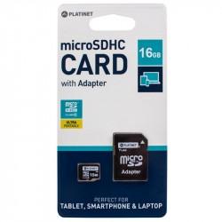 Cartao Memoria Micro SD PLatinet 16GB Class 10