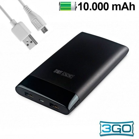 Bateria externa Universal Power Bank 10.000 mAh 3GO Traveler