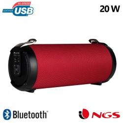 Coluna Universal de música Bluetooth NGS Roller Tempo Vermelho (20W)