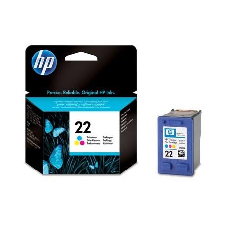 HP 22 Inkjet Print Cartridge, tri-colour (5 ml)