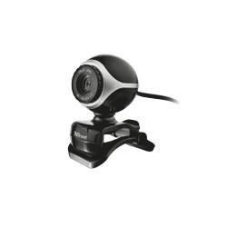 WebCam TRUST Exis Webcam - Black/Silver