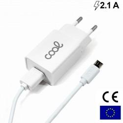 Carregador Universal Micro- USB COOL 2.1Amp Branco