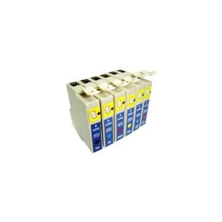 Conjunto de 6 Tinteiros Compatíveis Epson ref. 801/2/3/4/5/6