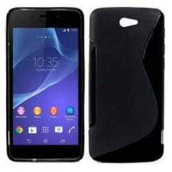 Capa Silicone Sony Xperia M2 (preto)